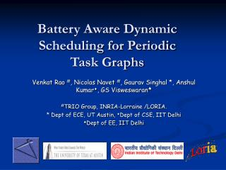 Battery Aware Dynamic Scheduling for Periodic Task Graphs