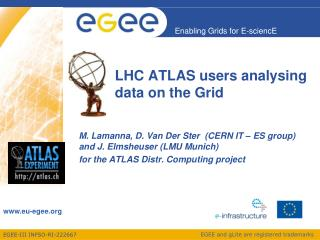 LHC ATLAS users  analysing  data on the Grid