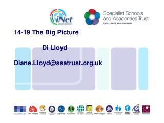 14-19 The Big Picture                 Di Lloyd Diane.Lloyd@ssatrust.uk