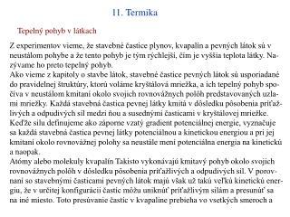 11. Termika