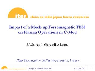 Impact of a Mock-up Ferromagnetic TBM on Plasma Operations in C-Mod