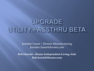 Upgrade Utility