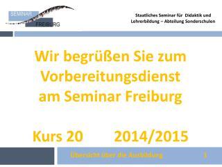 Staatliches Seminar f�r  Didaktik und Lehrerbildung � Abteilung Sonderschulen