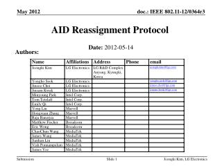 AID Reassignment Protocol