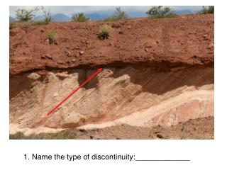 1. Name the type of discontinuity:_____________