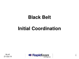Black Belt Initial Coordination