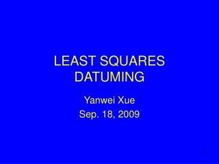 LEAST SQUARES DATUMING