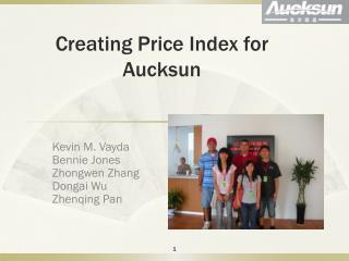 Creating Price Index for Aucksun