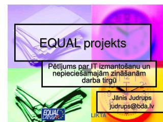 EQUAL projekts