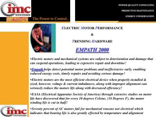 E LECTRIC  M OTOR  P ERFORMANCE  & T RENDING  H ARDWARE EMPATH 2000