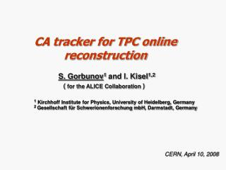 CA tracker for TPC online reconstruction