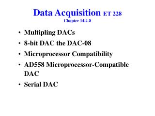 Data Acquisition  ET 228 Chapter 14.4-8
