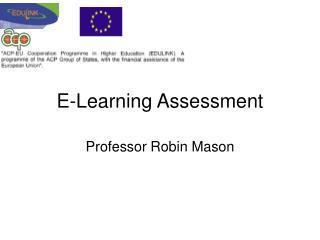 E-Learning Assessment