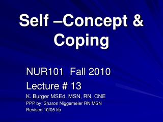 Self  Concept  Coping