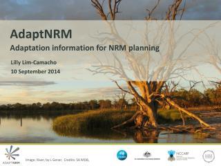 AdaptNRM  Adaptation  information for NRM planning