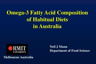 Omega-3 Fatty Acid Composition of Habitual Diets in Australia