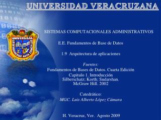 SISTEMAS COMPUTACIONALES ADMINISTRATIVOS E.E.  Fundamentos de Base  de Datos