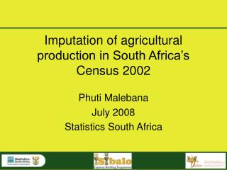 Imputation of agricultural production in South Africa's  Census 2002