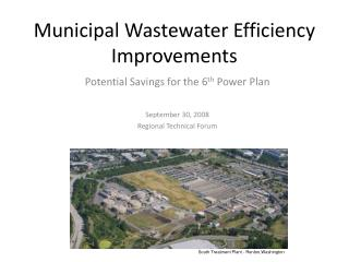 Municipal Wastewater Efficiency Improvements