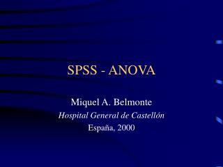 SPSS - ANOVA