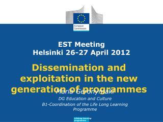EST Meeting Helsinki 26-27 April 2012