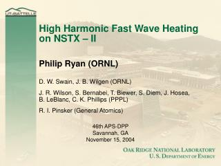 High Harmonic Fast Wave Heating on NSTX � II