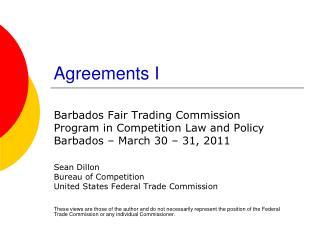 Agreements I