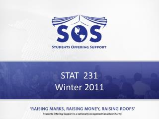 STAT  231 Winter 2011