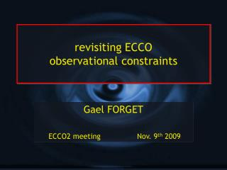 revisiting ECCO observational constraints
