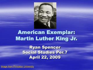 American Exemplar: Martin Luther King Jr.