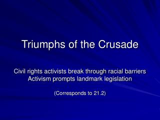 Triumphs of the Crusade