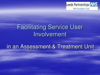 Facilitating Service User Involvement