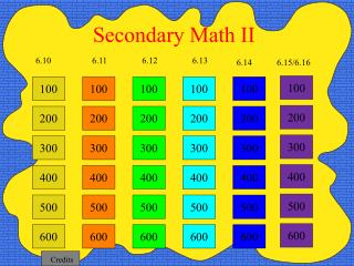 Secondary Math II