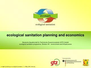 ecological sanitation  p lanning and economics