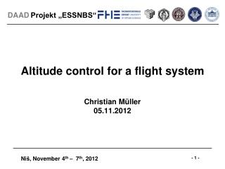 Altitude control for a flight system