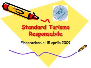 Standard Turismo Responsabile