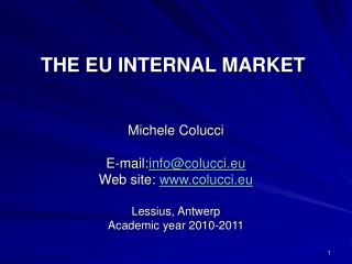 THE EU INTERNAL MARKET