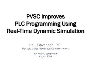 PVSC Improves  PLC Programming Using Real-Time Dynamic Simulation