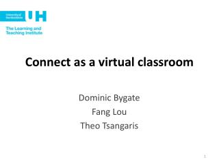 Connect as a virtual classroom