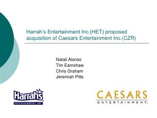 Harrah's Entertainment Inc.(HET) proposed acquisition of Caesars Entertainment Inc.(CZR)