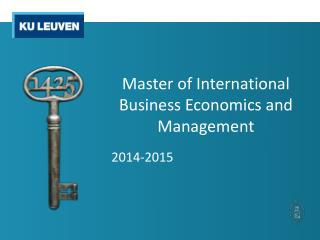Master of International Business Economics and Management