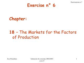 Exercise n° 6