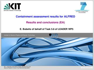 Containment assessment results for ALFRED Results and conclusions (EA)