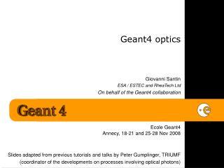 Geant4 optics