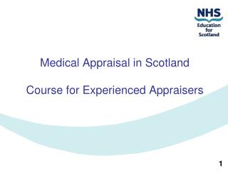 Medical Appraisal in Scotland Course for Experienced Appraisers