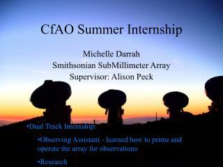 CfAO Summer Internship
