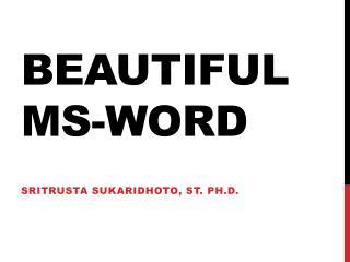 Beautiful  ms -word