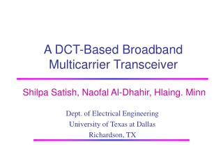 A DCT-Based Broadband Multicarrier Transceiver