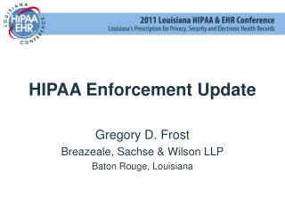 HIPAA Enforcement Update