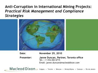Anti-Corruption in International Mining Projects: Practical Risk Management and Compliance Strategies